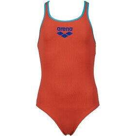 arena Biglogo Pro Back One Piece Swimsuit Girls, oranje